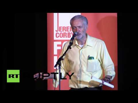 UK: Jeremy Corbyn talks migrant and banking crises at London speech