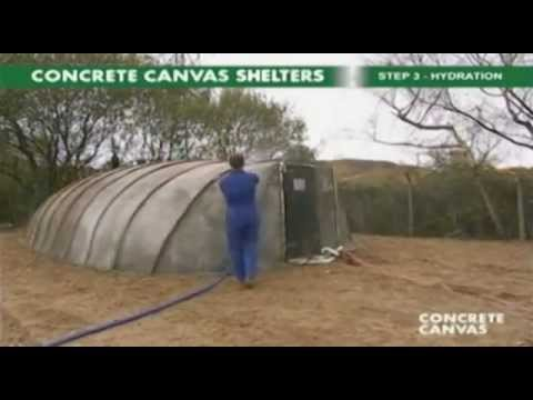 Tent that turns into concrete shelter! & Tent that turns into concrete shelter! - YouTube