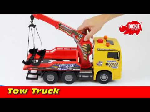 Dickie Toys - Tow Truck Laweta - pump action