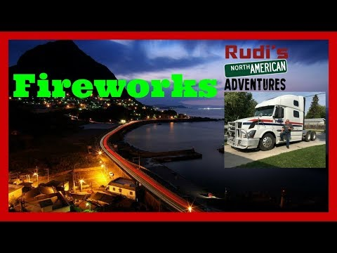 Fireworks across the Street and BBQ Rudi's NORTH AMERICAN ADVENTURES 12/03/17 Vlog#1271