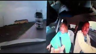 Samsun daki korkunç kaza anı kamerada