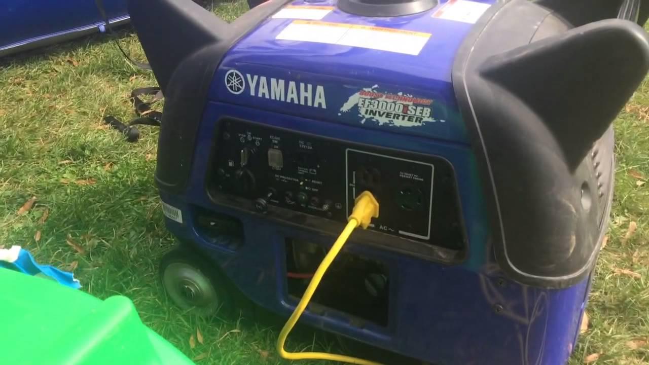 Yamaha 3000 inverter generator running noise