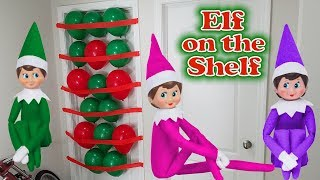 Purple & Pink Elf on the Shelf - Green Prankster Elf Balloon Prank! Day 17