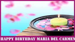 MariadelCarmen   Birthday Spa - Happy Birthday