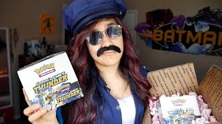 SOMEONE'S GETTING ARRESTED! EARLY Pokemon Lost Thunder Booster Box Opening!!