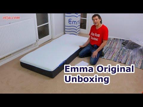 Emma mattress original unboxing - 2nd gen - UK foam mattress - 2018