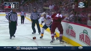 Mike Fisher vs B.J. Crombeen Mar 9, 2015