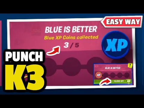 Fortnite K3 Punch Card - Collect Blue XP Coins - BLUE XP COINS COLLECTED (Fortnite Punch Card K3)!
