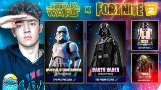 Mi reacción sorpresa a FORTNITE X STARS WARS...