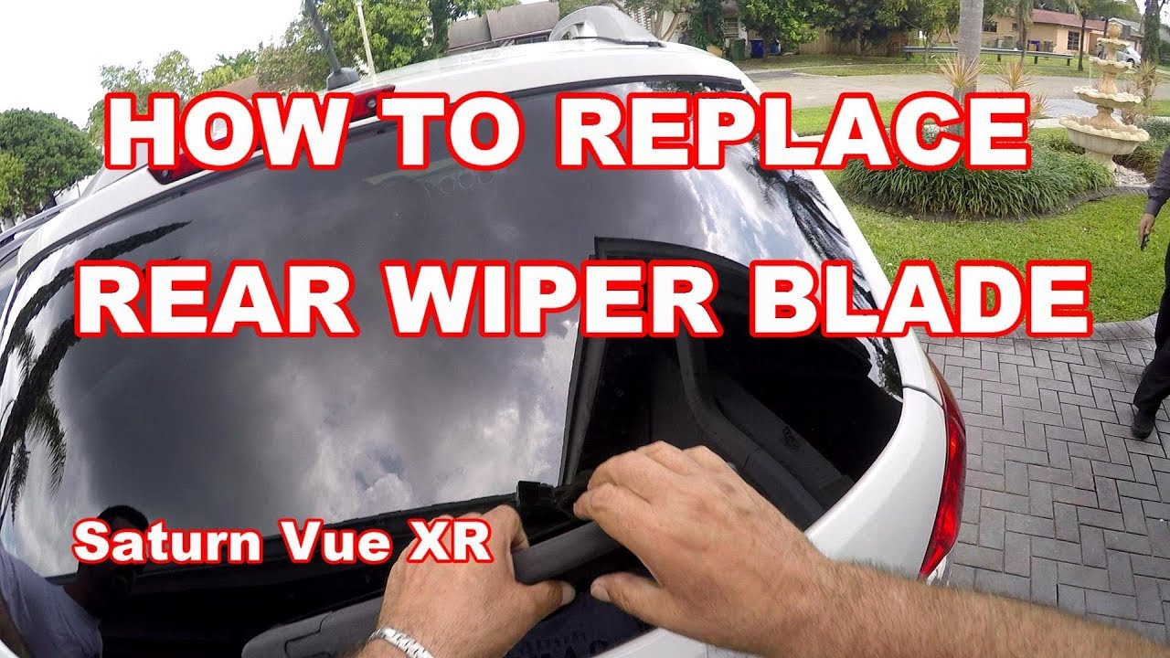 How To Replace Rear Wiper Blade 2008 Saturn Vue Xr And Chevy Captiva Is The Same