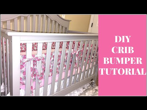 DIY Crib Bumper Tutorial under $11.00! - YouTube