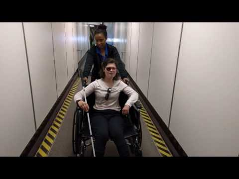 Wheelchair on the jetway
