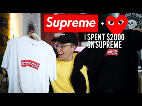 I GOT 2 SUPREME x COMME DES GARCONS BOX LOGOS & I SPENT $2,000 ON SUPREME