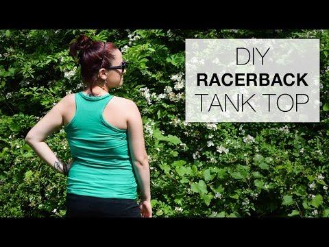 9156a63cb1386 DIY Racerback Tank Top Tutorial - Free Pattern - YouTube