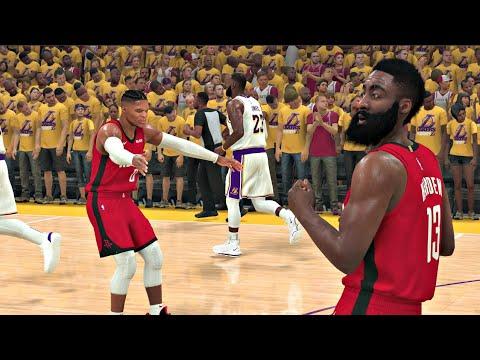 NBA 2K20 Gameplay  Los Angeles Lakers vs Houston Rockets (Playoff Game) – NBA 2K20 PS4