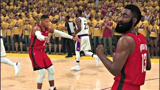 NBA 2K20 Gameplay - Los Angeles Lakers vs Houston Rockets (Playoff Game) – NBA 2K20 PS4