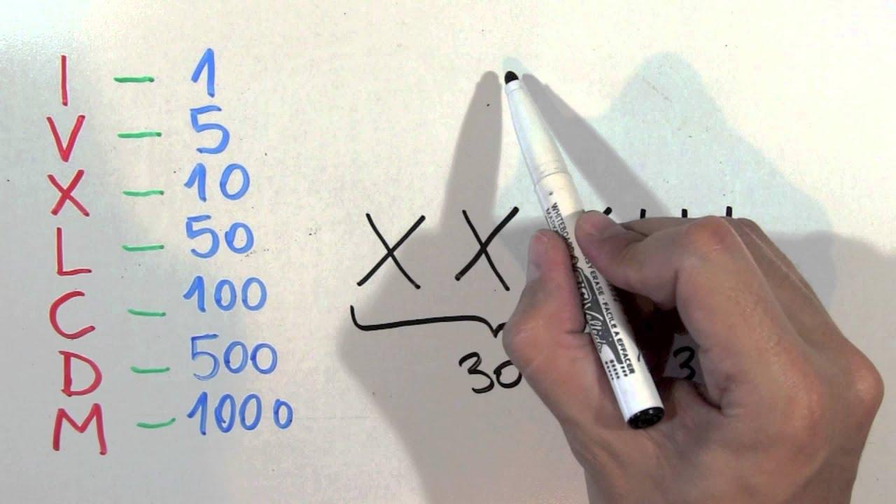 Cómo Se Escribe 33 Con Números Romanos Treinta Y Tres Xxxiii Youtube