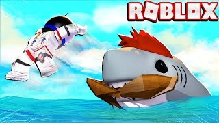 BECOMING A SHARK JUST TO DESTROY MY FRIEND! -- ROBLOX SHARK BITE