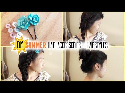 DIY: Summer Hair Accessories + Summer Hairstyles!