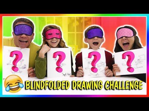 BLINDFOLDED DRAWING CHALLENGE | We Are The Davises