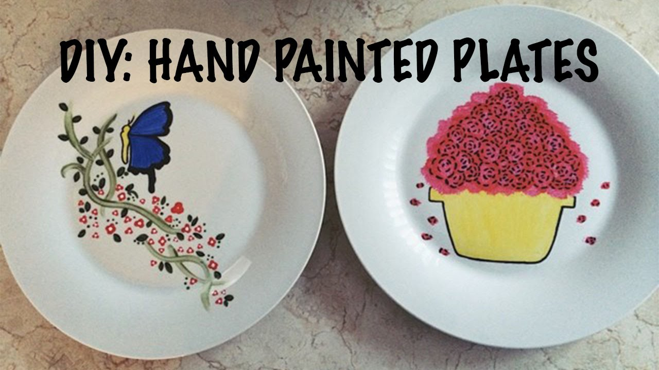 Diy hand painted plates youtube for Where to buy ceramic plates to paint