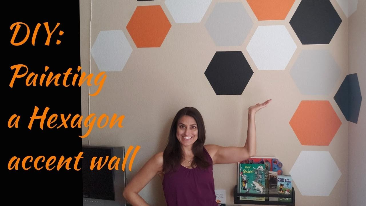 Diy Painting Hexagons On An Accent Wall Love Where You Live Lovewhereyoulive Youtube