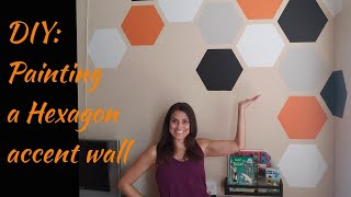 Diy: Painting Hexagons On An Accent Wall   Love Where You Live #lovewhereyoulive