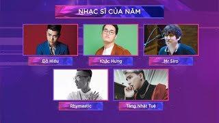 TOP 5 Nhạc Sĩ Của Năm - Zing Music Awards 2017