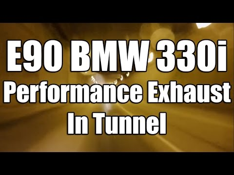 BMW 330i Performance Exhaust e90 driving in tunnel  YouTube