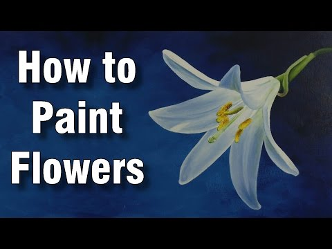 How To Paint Flowers In Acrylic Daylily Time Lapse Painting