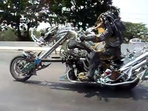 Predator ride the motorcycle