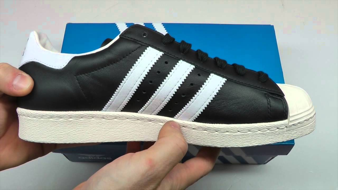 MOVESHOP ADIDAS SUPERSTAR G61069 BLACK WHITE - YouTube c631619a052f