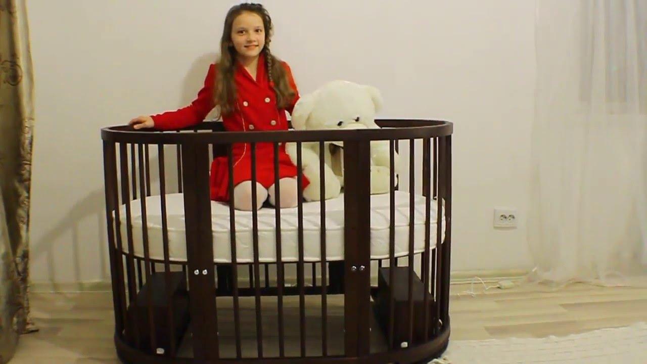 Установка кроватки на маятники - YouTube