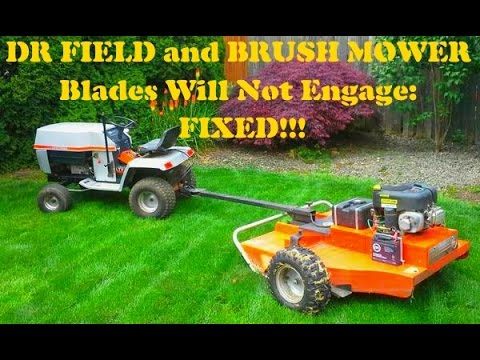 hqdefault dr field and brush mower blades will not engage fixed! d r dr field and brush mower wiring diagram at bakdesigns.co