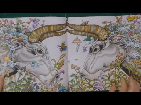 Colouring Book Review: Animorphia With Tips And Coloured Pages. - YouTube