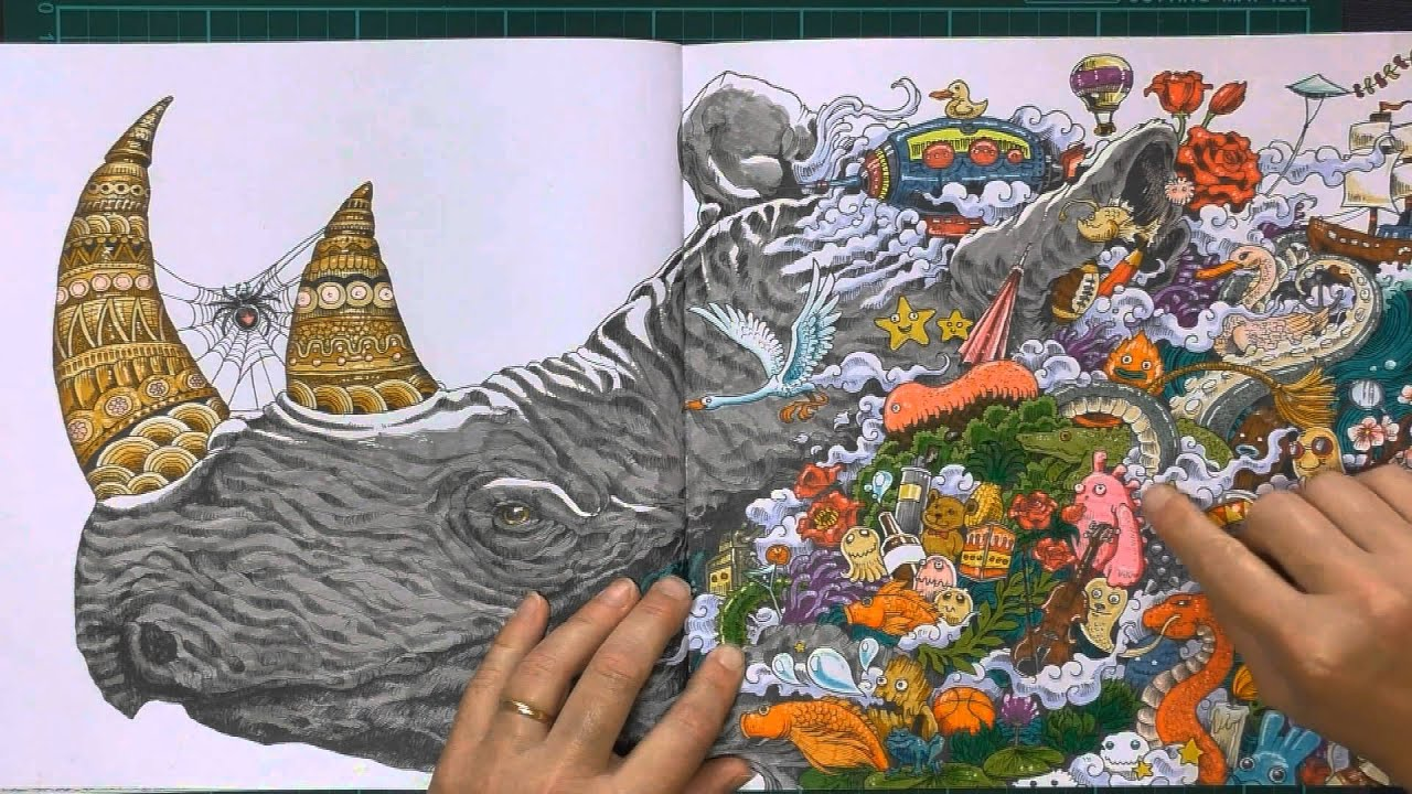 Colouring Book Review: Animorphia with Tips and Coloured Pages ...