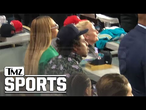 Beyonce, Jay-Z & Blue Ivy Sit Down During Super Bowl National Anthem | TMZ Sports