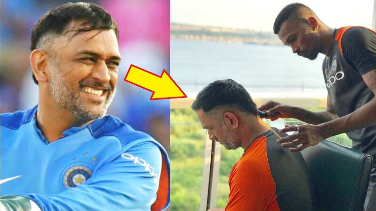 Ms Dhoni New Hairstyle By Hardik Pandya For India Vs England Odi