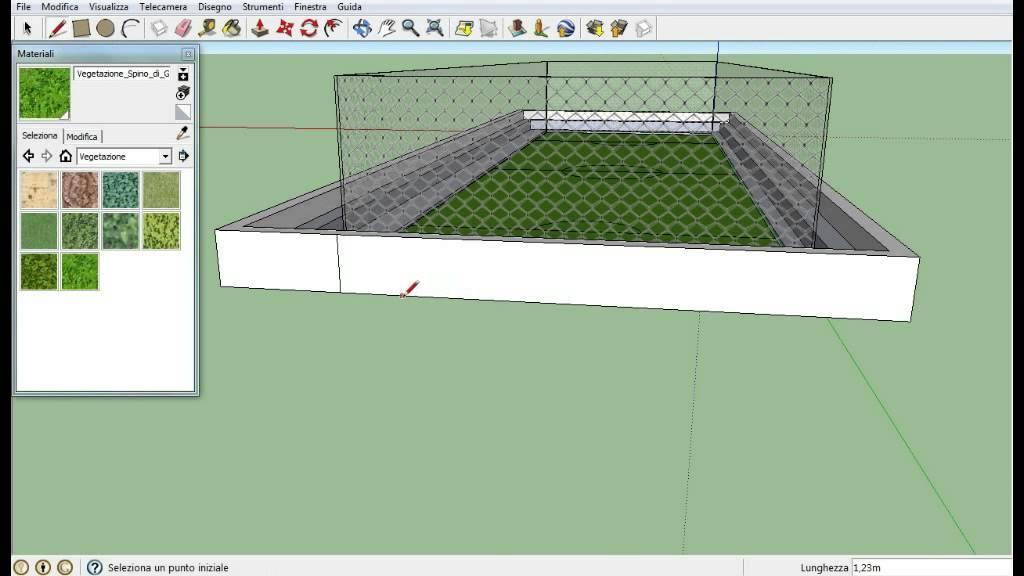 Come costruire un campo di calcio con sketchup youtube for Costruire un ranch a casa