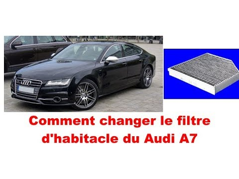 audi a7 comment changer le filtre d 39 habitacle youtube. Black Bedroom Furniture Sets. Home Design Ideas