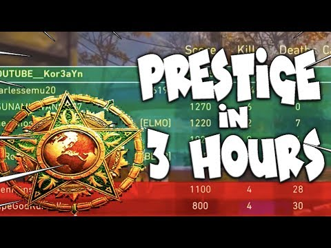 PRESTIGE in *3 HOURS* in Call of Duty: WW2