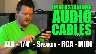 """Understanding Audio Cables: 1/4""""vs XLR vs Speakon vs RCA vs MIDI"""