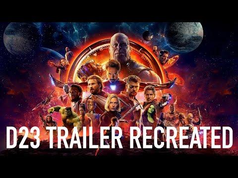 Avengers Infinity War - D23 Teaser Trailer (RECREATED)