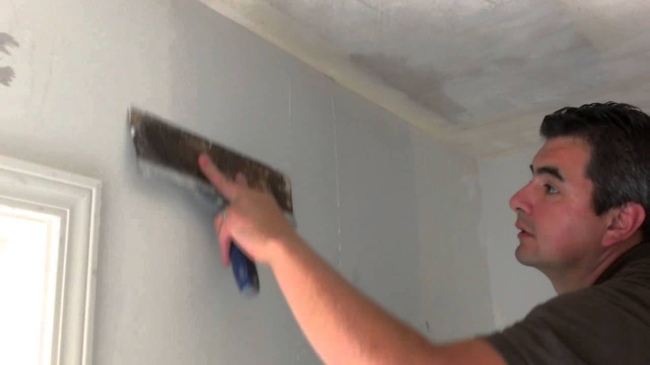 how to apply a skim coat on walls - YouTube