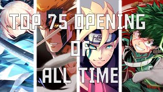 My Top 75 Anime Opening of ALL TIME