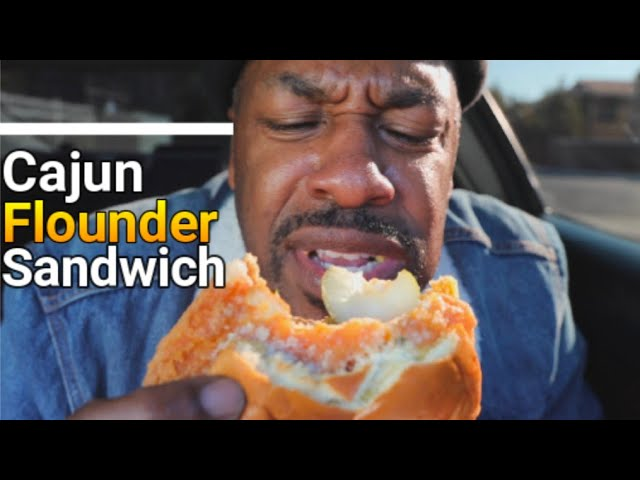 Popeyes cajun flounder sandwich is..