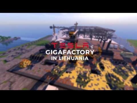 Minecraft Tesla Gigafactory in Lithuania
