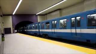 Montreal metro Sherbrooke station/Métro de Montréal station Sherbrooke