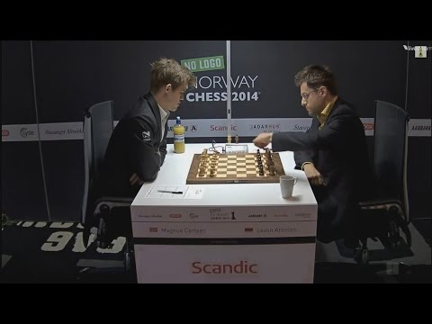 ♚ GM Magnus Carlsen vs GM Levon Aronian ✰ Norway Chess 2014