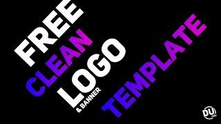 Free Clean Logo & Banner #5 | D.U. Arts